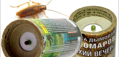 قنابل دخان مبيدات الحشرات لقتل الصراصير في الشقة